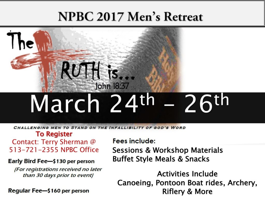 New Prospect Baptist Church Men's Retreat
