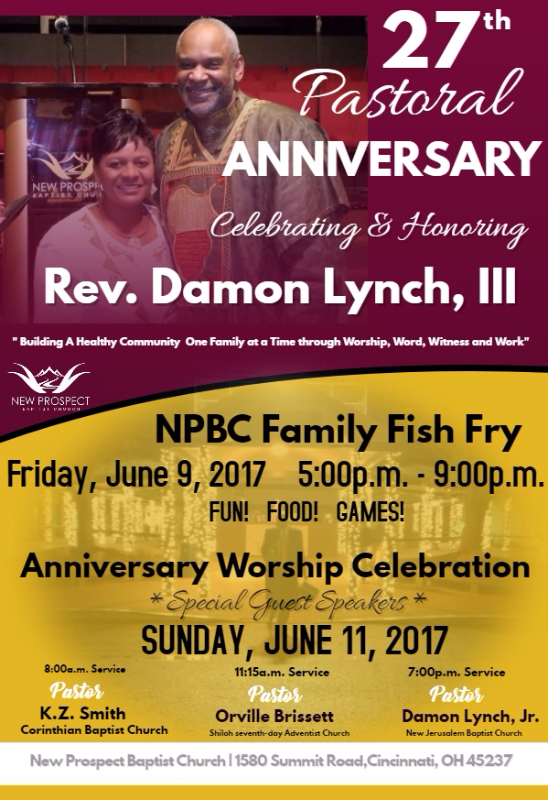 Pastor Damon Lynch, III's 27th Pastoral Anniversary