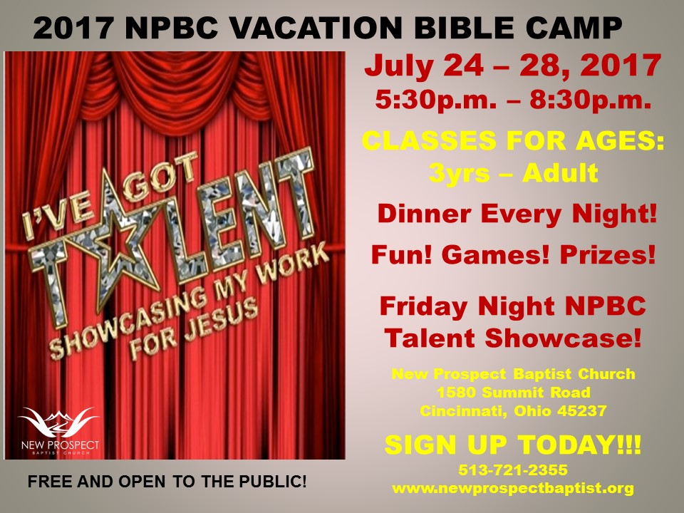 VBS Sign for Fast Signs