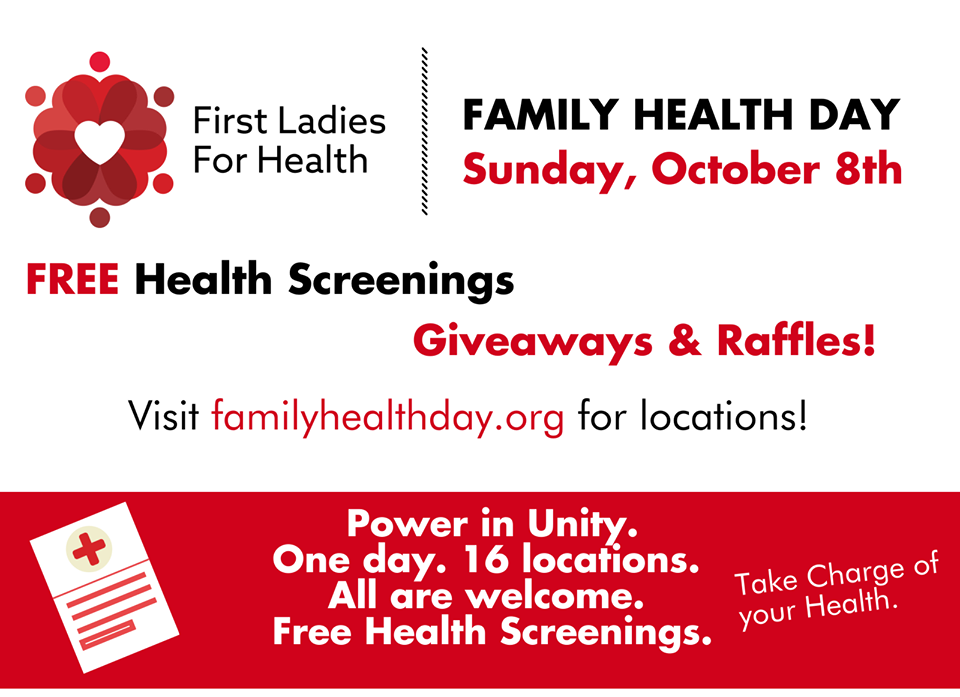 Family Health Day on Sunday, October 8, 2017