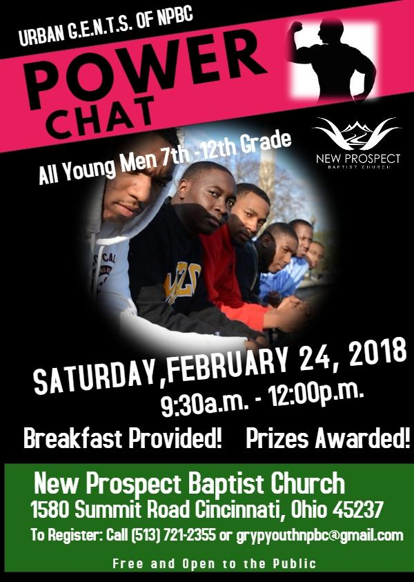 Urban G.E.N.T.S. Power Chat 2-24-2018