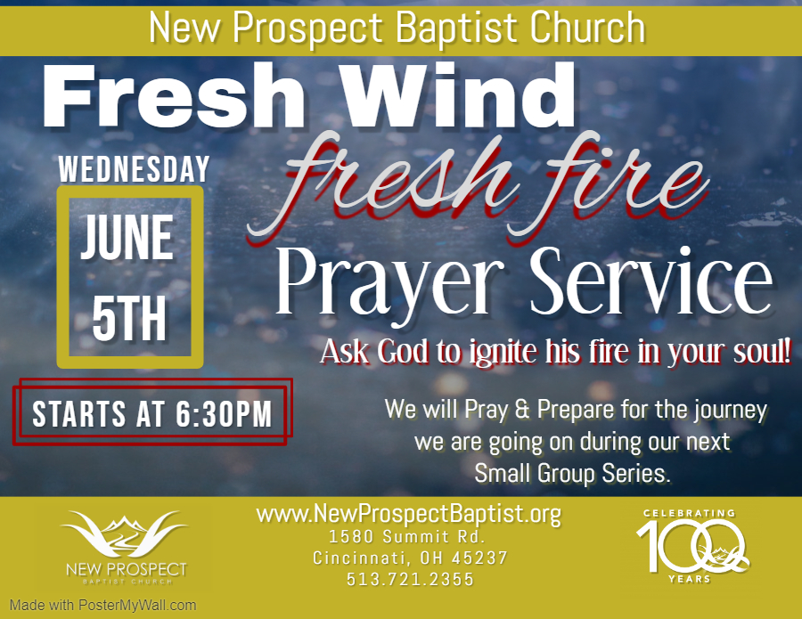 Fresh Wind Fresh Fire Prayer Service New Prospect